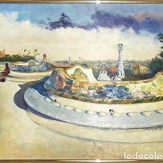 Arte: OLEO DEL PINTOR SUNYOL. Lote 148282386