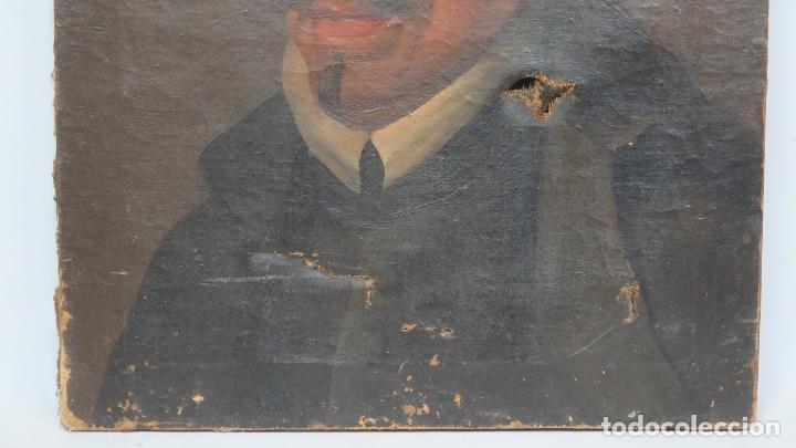Arte: RETRATO DE LOPE DE VEGA Y CARPIO. OLEO SOBRE LIENZO. SIGLO XVIII - Foto 2 - 148282614