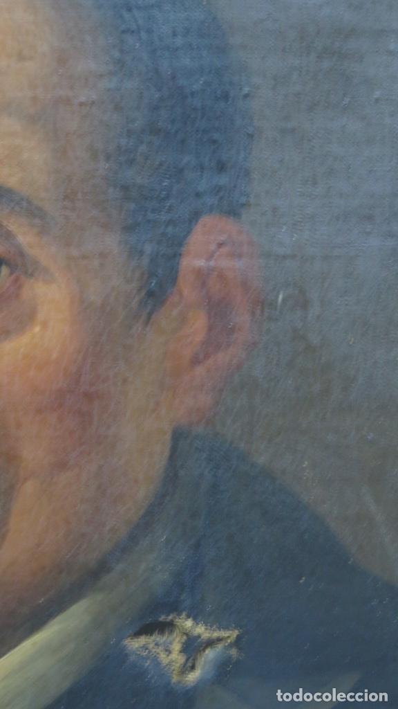 Arte: RETRATO DE LOPE DE VEGA Y CARPIO. OLEO SOBRE LIENZO. SIGLO XVIII - Foto 4 - 148282614