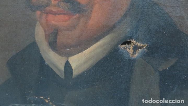 Arte: RETRATO DE LOPE DE VEGA Y CARPIO. OLEO SOBRE LIENZO. SIGLO XVIII - Foto 6 - 148282614