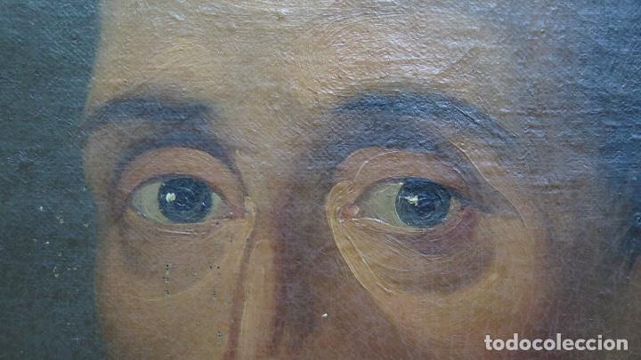 Arte: RETRATO DE LOPE DE VEGA Y CARPIO. OLEO SOBRE LIENZO. SIGLO XVIII - Foto 7 - 148282614