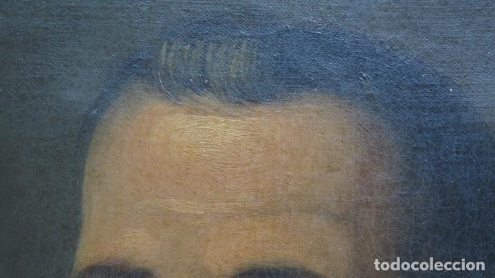Arte: RETRATO DE LOPE DE VEGA Y CARPIO. OLEO SOBRE LIENZO. SIGLO XVIII - Foto 8 - 148282614