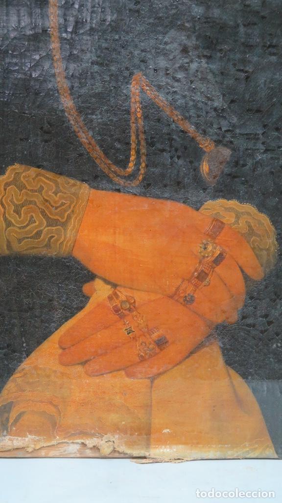 Arte: RETRATO DE MUJER CON JOYAS. OLEO SOBRE LIEZO. HACIA 1840. ESCUELA ESPAÑOLA - Foto 2 - 148283946
