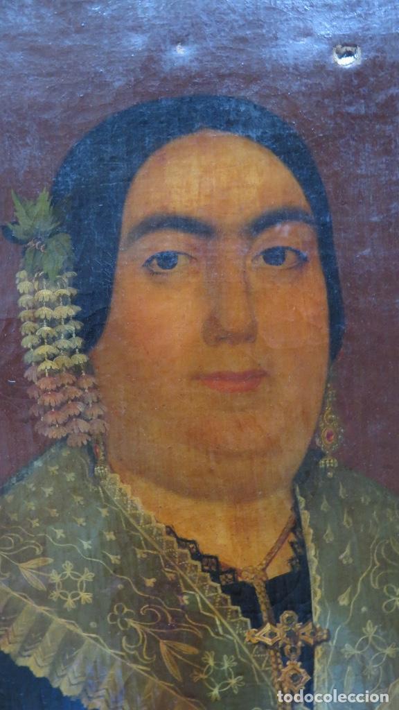 Arte: RETRATO DE MUJER CON JOYAS. OLEO SOBRE LIEZO. HACIA 1840. ESCUELA ESPAÑOLA - Foto 9 - 148283946