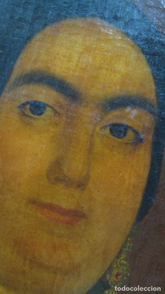 Arte: RETRATO DE MUJER CON JOYAS. OLEO SOBRE LIEZO. HACIA 1840. ESCUELA ESPAÑOLA - Foto 14 - 148283946