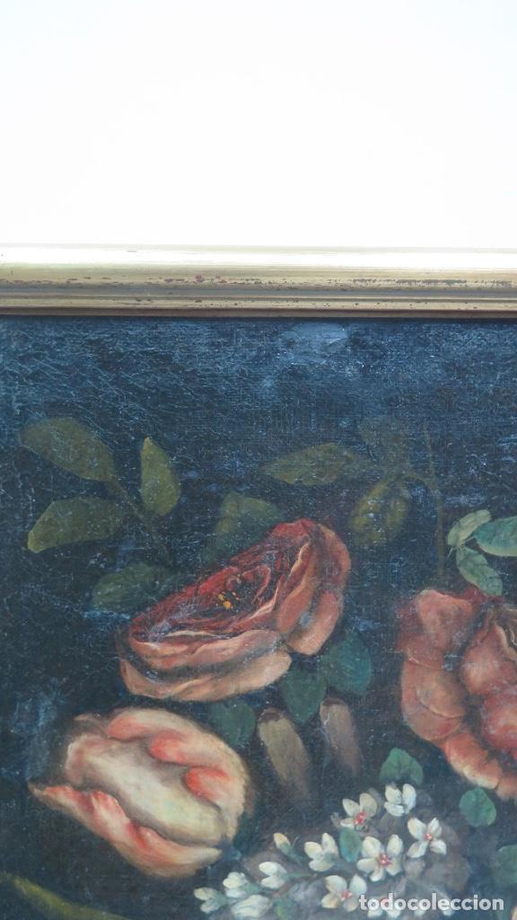 Arte: INTERESANTE BODEGON O FLORERO. OLEO S/LIENZO. SIGLO XVII-XVIII. ESCUELA ESPAÑOLA - Foto 9 - 148292222