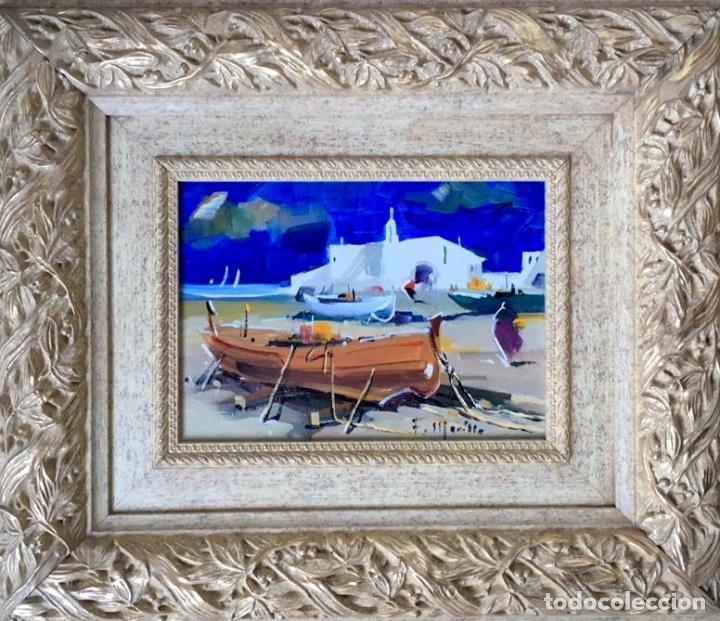 Arte: Óleo con temática Marina del pintor y acuarelista FRANCISCO LOZANO MORILLO. - Foto 2 - 148318082