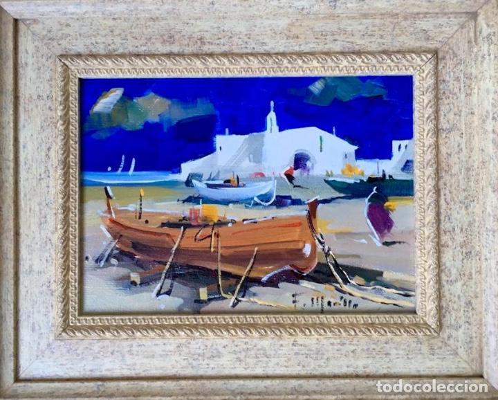 Arte: Óleo con temática Marina del pintor y acuarelista FRANCISCO LOZANO MORILLO. - Foto 3 - 148318082