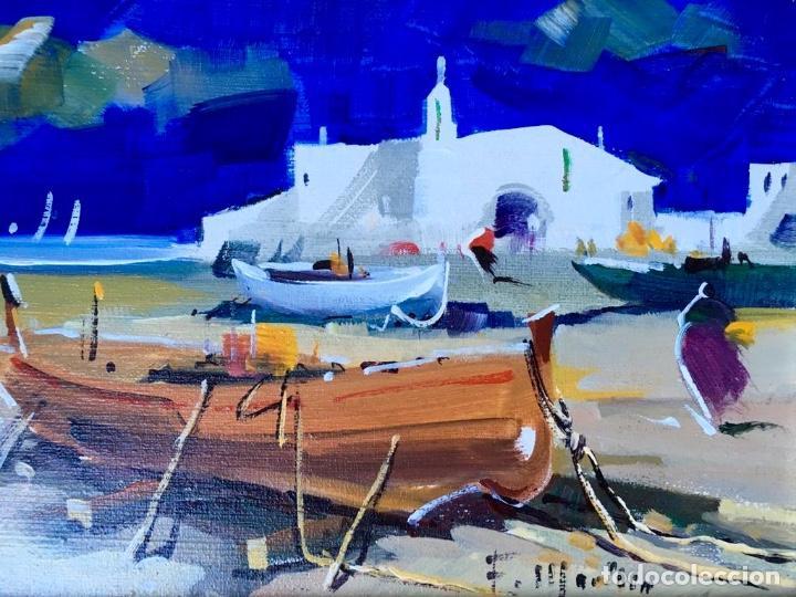 Arte: Óleo con temática Marina del pintor y acuarelista FRANCISCO LOZANO MORILLO. - Foto 4 - 148318082
