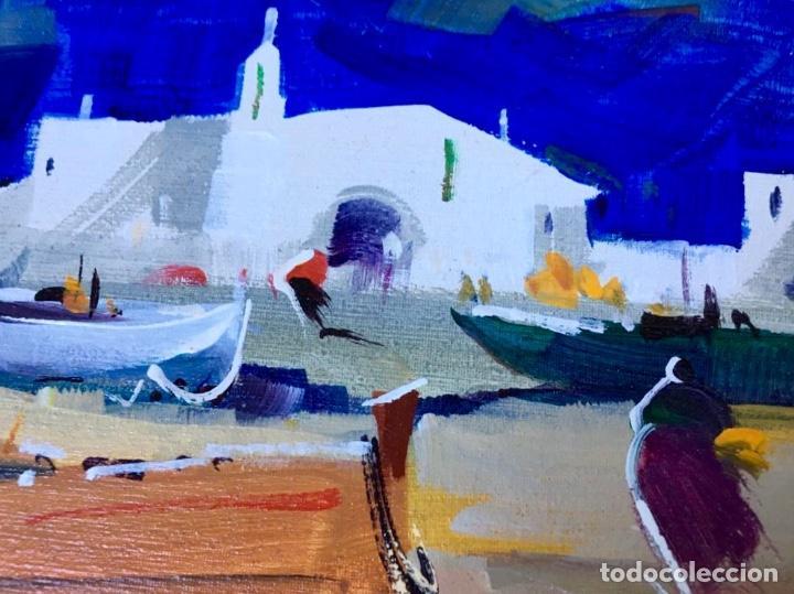 Arte: Óleo con temática Marina del pintor y acuarelista FRANCISCO LOZANO MORILLO. - Foto 5 - 148318082