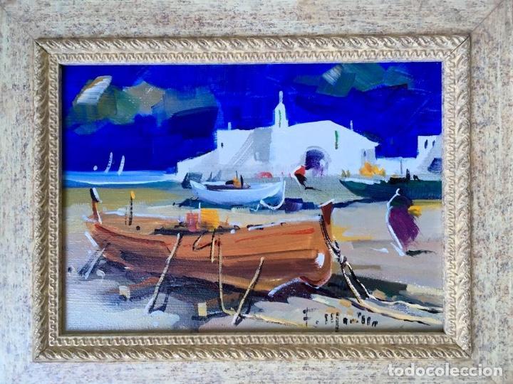 Arte: Óleo con temática Marina del pintor y acuarelista FRANCISCO LOZANO MORILLO. - Foto 10 - 148318082