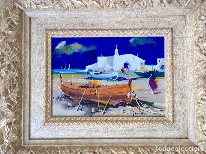 Arte: Óleo con temática Marina del pintor y acuarelista FRANCISCO LOZANO MORILLO. - Foto 11 - 148318082