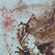 Arte: SAMURAI.ÓLEO SOBRE LIENZO. Lote 148167374