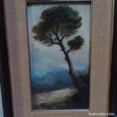 Arte: ANTIGUO ÓLEO SOBRE TABLA.FIRMA ILEGIBLE.FECHA EN EL REVERSO 1868-1936.. Lote 148591086