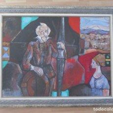 Arte: MIQUEL TORNER DE SEMIR - QUIJOTE Y DULCINEA - OLEO Y TECNICA MIXTA. Lote 148605226