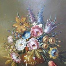 Arte: ESPECTACULAR BODEGÓN FLORAL DE 1893 - RAFAEL BLANCO MERINO (1864-1899) - SALIDA 1€ - GRAN VALOR. Lote 151376836