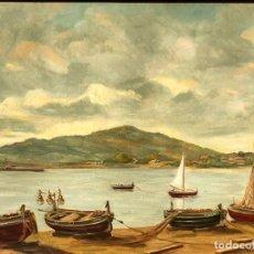 Arte: MAURICIO HASSID MICHAEL (SALÓNICA,GRECIA 1905-BARCELONA 1979) ÓLEO CON MARINA. Lote 148649274