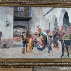 Arte: ANTES DE LA CORRIDA DE BERNARDO FERRANDIZ. COPIA DE FERNANDO NEGRO. Lote 148651634