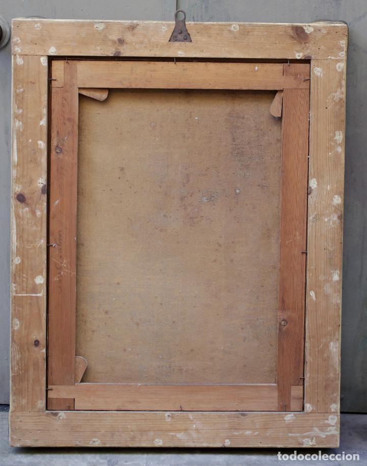 Arte: Retrato de militar o embajador, tela: 57x78 cm. Marco: 78x100 cm. Siglo XIX. España, ver fotos. - Foto 3 - 148769722