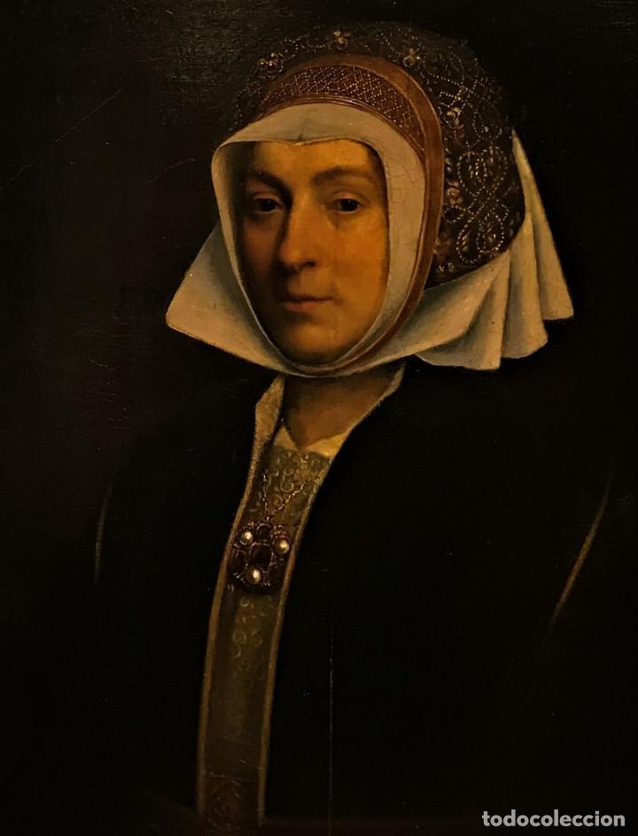 IMPRESIONANTE ÓLEO SOBRE TABLA DEL SIGLO XVI. INGLÉS Ó FLAMENCO (Arte - Pintura - Pintura al Óleo Antigua siglo XVI)