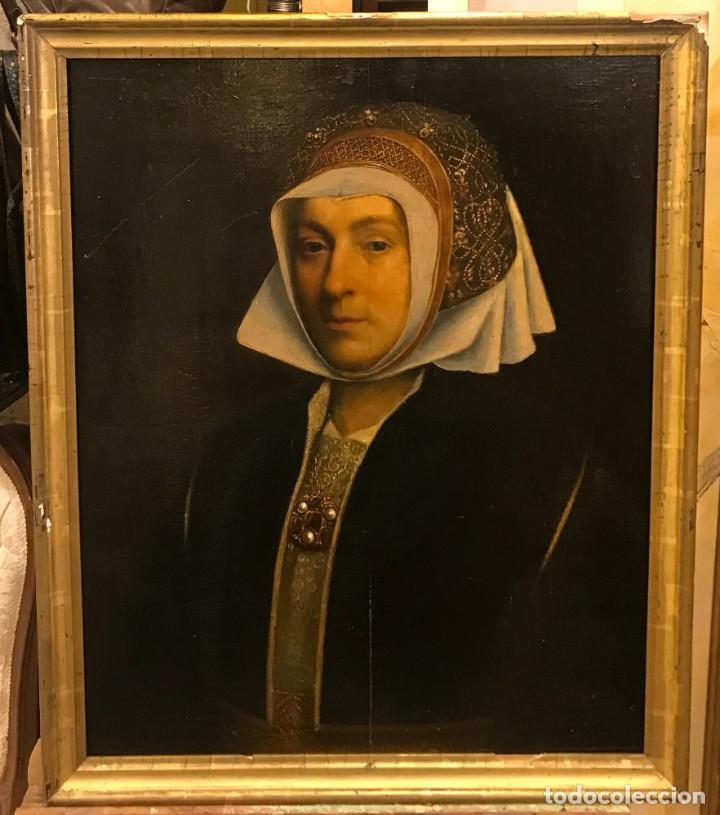 Arte: Impresionante óleo sobre tabla del siglo XVI. Inglés ó flamenco - Foto 2 - 148861658