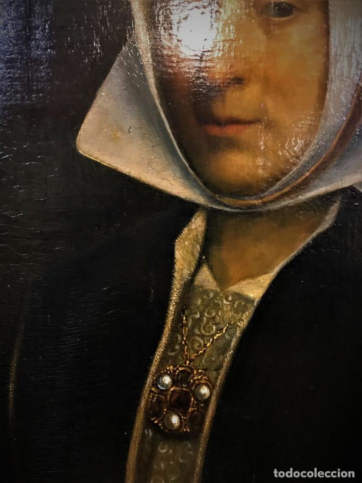 Arte: Impresionante óleo sobre tabla del siglo XVI. Inglés ó flamenco - Foto 5 - 148861658