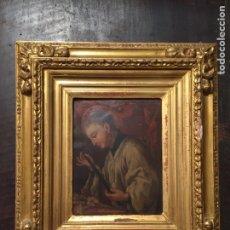 Arte: PINTURA SOBRE COBRE DE SAN LUIS GONZAGA (1568-1591) S.XIX. Lote 148904365