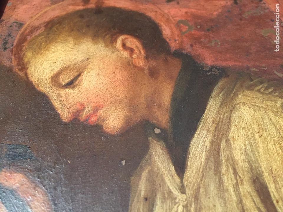Arte: Pintura sobre cobre de SAN LUIS GONZAGA (1568-1591) S.XIX - Foto 4 - 148904365