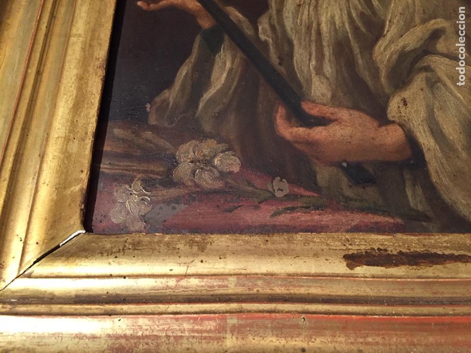 Arte: Pintura sobre cobre de SAN LUIS GONZAGA (1568-1591) S.XIX - Foto 6 - 148904365