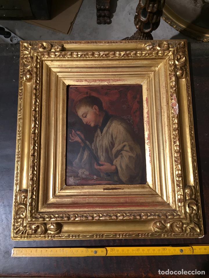 Arte: Pintura sobre cobre de SAN LUIS GONZAGA (1568-1591) S.XIX - Foto 8 - 148904365