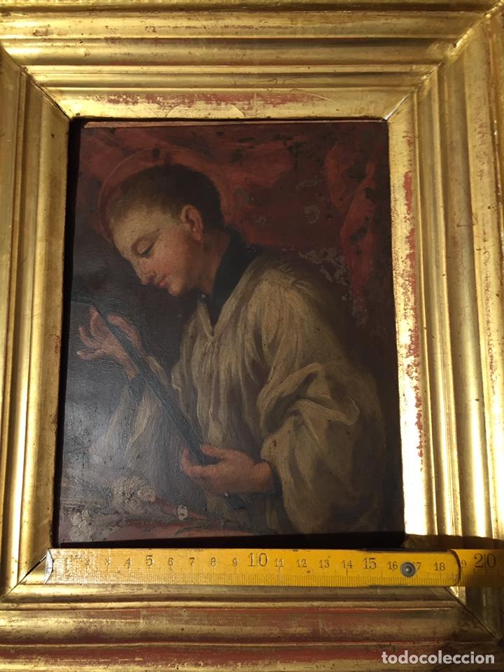Arte: Pintura sobre cobre de SAN LUIS GONZAGA (1568-1591) S.XIX - Foto 10 - 148904365