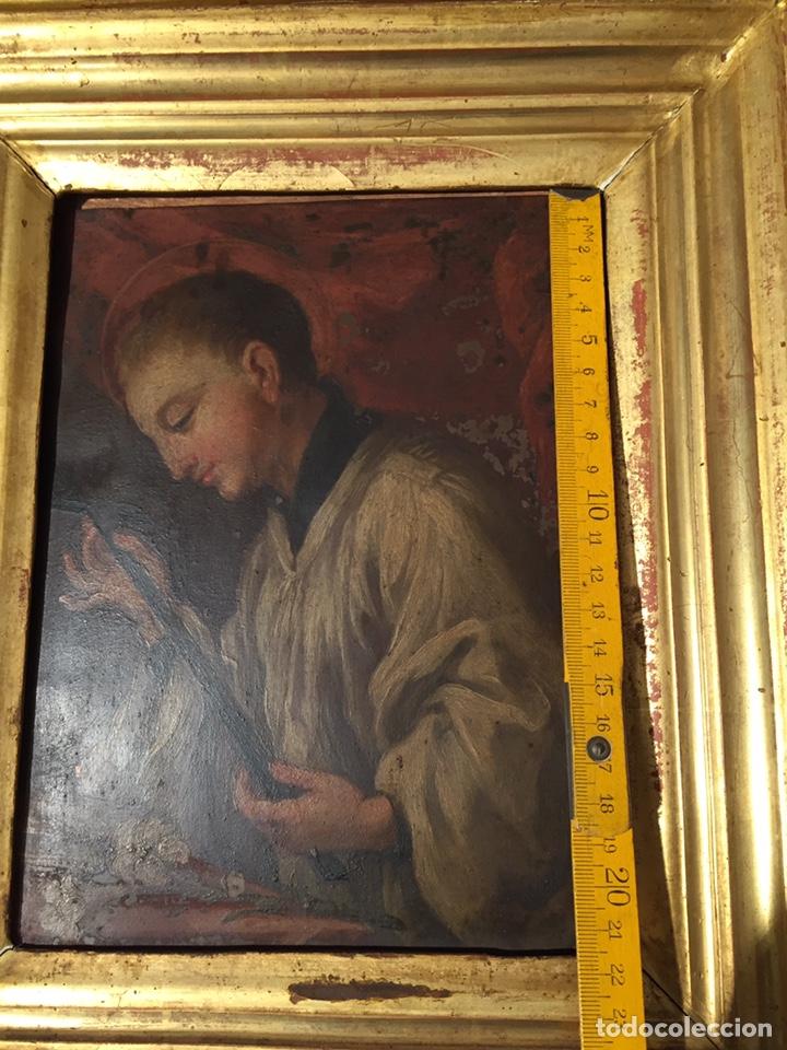 Arte: Pintura sobre cobre de SAN LUIS GONZAGA (1568-1591) S.XIX - Foto 11 - 148904365