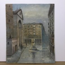 Arte: PINTURA AL ÓLEO BILBAO DEL ARTISTA DELAVEGA. Lote 148944810