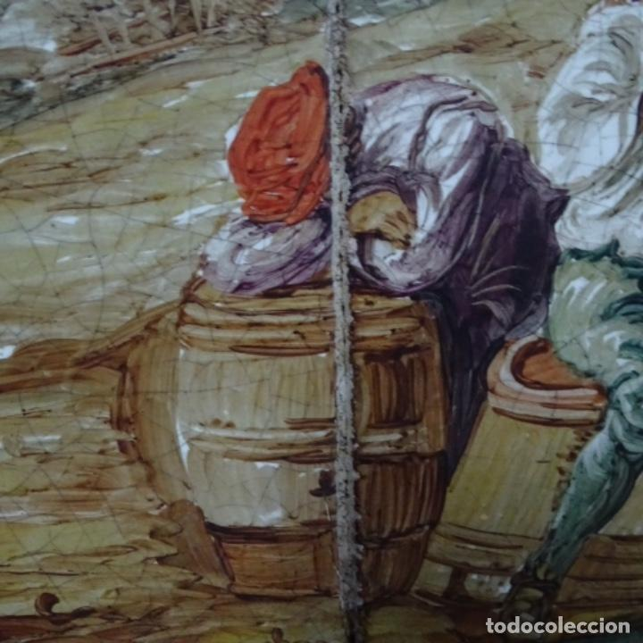 Arte: Óleo sobre azulejo escuela centroeuropea firmado j.m. Ros.sigloxvii-xx. - Foto 5 - 148996442