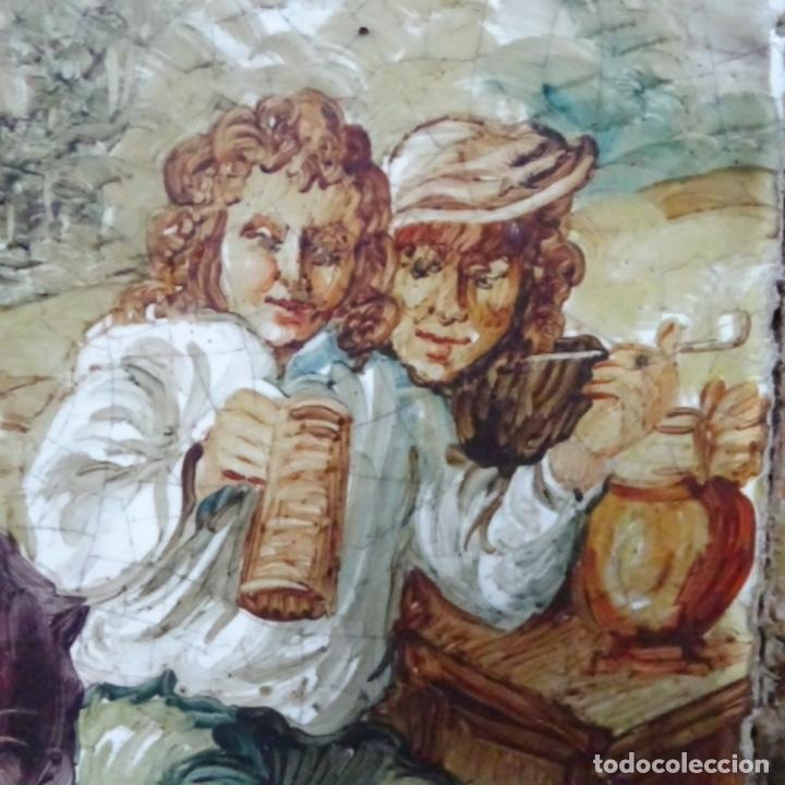 Arte: Óleo sobre azulejo escuela centroeuropea firmado j.m. Ros.sigloxvii-xx. - Foto 7 - 148996442