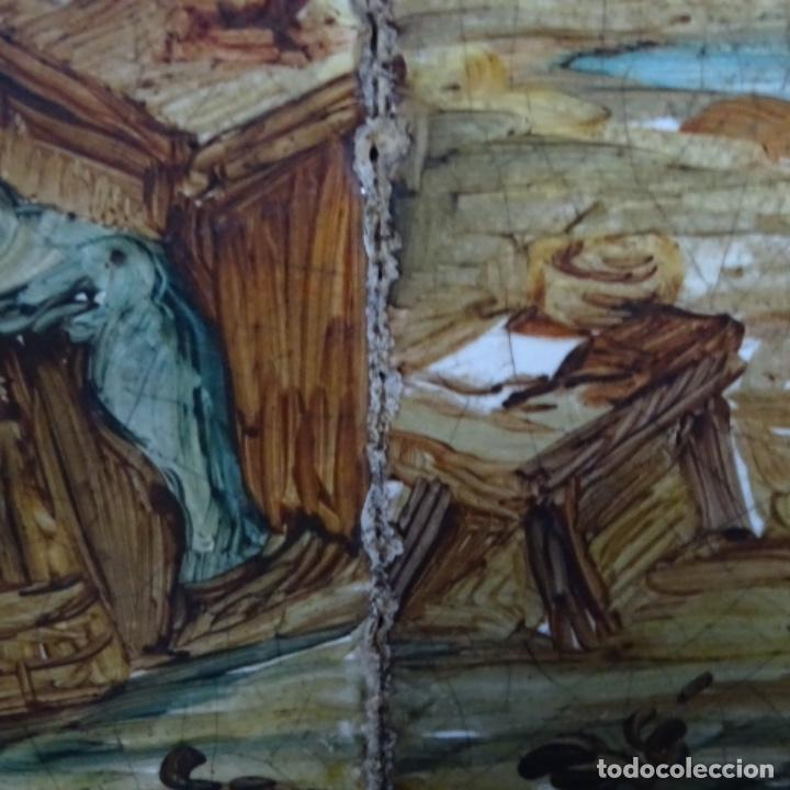 Arte: Óleo sobre azulejo escuela centroeuropea firmado j.m. Ros.sigloxvii-xx. - Foto 9 - 148996442