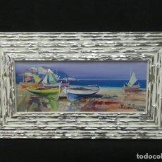 Arte: MARINA ESPECTACULAR AL OLEO SOBRE LIENZO DEL PINTOR CONSTANTINO. Lote 149108118