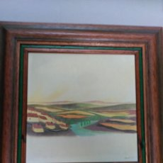 Arte: TECNICA MIXTA SOBRE TABLA, PAISAJE, BRUNET 1978. Lote 149129426