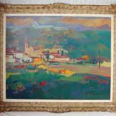 Arte: ISIDORO LÁZARO FERRÉ- ESQUEDRAS (HUESCA) - ÓLEO SOBRE TELA S XX. Lote 149184302
