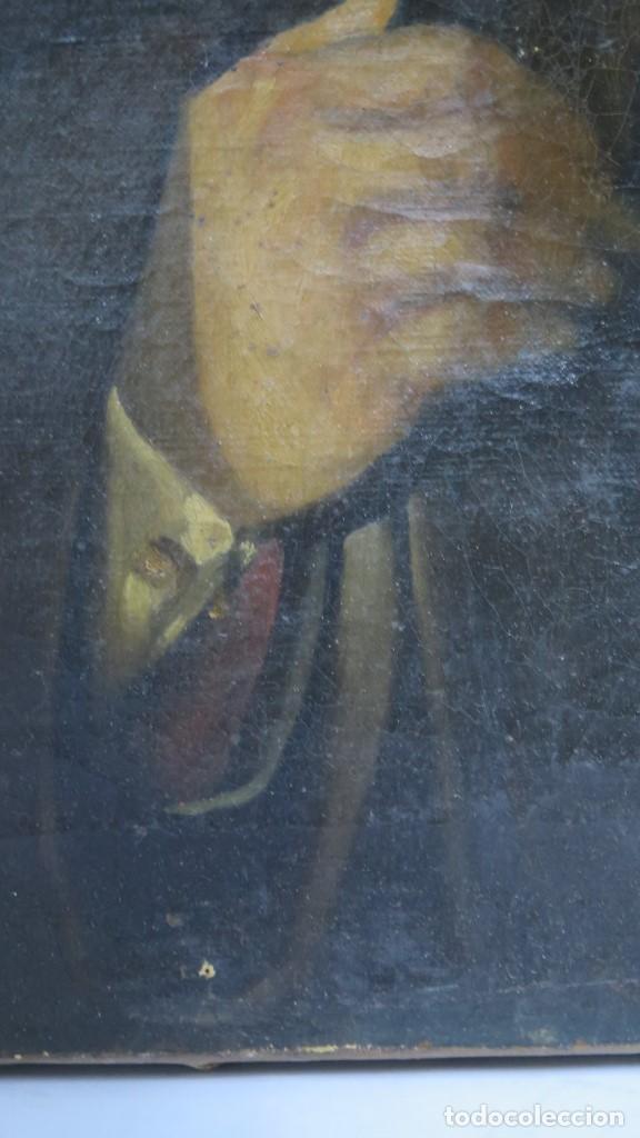 Arte: RETRATO DE CABALLERO. OLEO S/ LIENZO. SEGUNDA MITAD SIGLO XIX. ESC. ESPAÑOLA - Foto 3 - 149244430