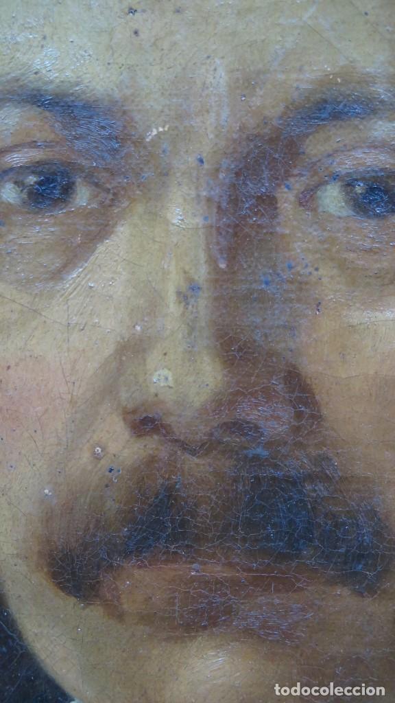 Arte: RETRATO DE CABALLERO. OLEO S/ LIENZO. SEGUNDA MITAD SIGLO XIX. ESC. ESPAÑOLA - Foto 10 - 149244430