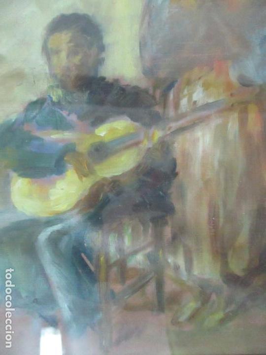 Arte: Pintura - Óleo sobre Tela - Cantadora y Guitarrista - con Marco - Foto 3 - 149348358