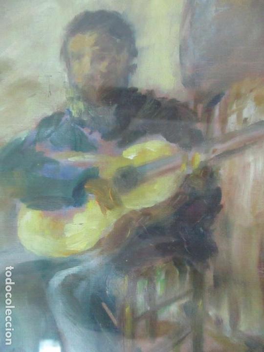 Arte: Pintura - Óleo sobre Tela - Cantadora y Guitarrista - con Marco - Foto 4 - 149348358