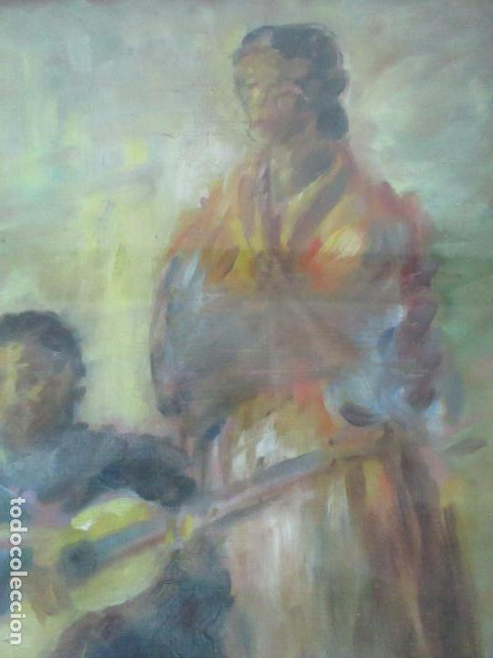 Arte: Pintura - Óleo sobre Tela - Cantadora y Guitarrista - con Marco - Foto 5 - 149348358