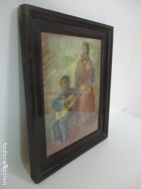 Arte: Pintura - Óleo sobre Tela - Cantadora y Guitarrista - con Marco - Foto 7 - 149348358