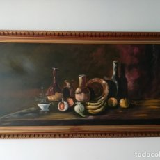Arte: CUADRO ANTIGUO BODEGÓN AL OLEO SOBRE LIENZO SIGLO XIX. Lote 146274398