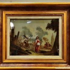 Arte: MAGNÍFICO ÓLEO SOBRE CRISTAL- ROSA DA TIVOLI- S.XVII. FLORENCIA. Lote 149378158