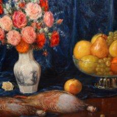 Arte: RAMON PALMAROLA ROMEU (BARCELONA, 1877 - 1954) OLEO SOBRE TELA. BODEGON. Lote 149394190