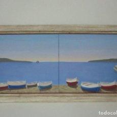 Arte: BONITA PINTURA - ÓLEO SOBRE TELA - MARINA - CADAQUÉS - FIRMA PERE ROCA - AÑO 1999. Lote 149420622