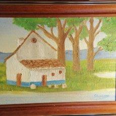 Arte: ANTIGUO CUADRO PINTADO AL ÓLEO SOBRE LIENZO. Lote 149434220